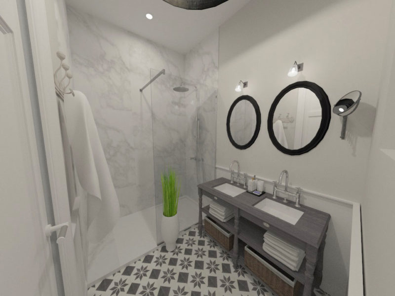 Salle de douche -Imagerie 3D - LYON - rhône