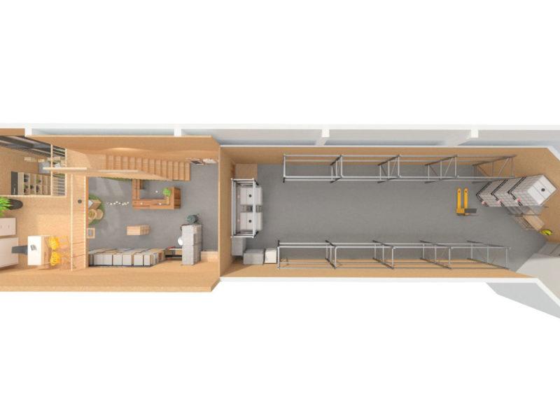 Plan d'aménagement - Architecture d'intérieur - BOURGOIN JALLIEU - isère