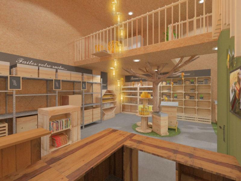 Vue de l'accueil - Architecture d'intérieur - BOURGOIN JALLIEU - isère
